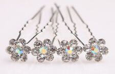 New 20pcs Bridal Party Wedding Clear Crystal Flower Style Rhinestone Hair Pins