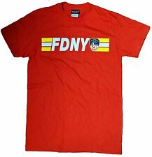 MENS FDNY RED KEEP 200 FT BACK FIRE DEPT BLUE NEW YORK CITY OFFICIAL LICENSED