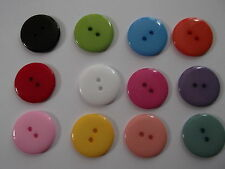 25 Large Round Resin Buttons 23mm - Choose Your Own Colours