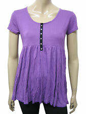 Womens Papaya Scoop Neck Tunic Top Purple Size 8 to 22 Ladies A29WD12