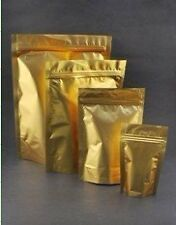 gold foil zip lock bags stand up Grip seal ziplock bags assorted size3 0-1000pcs