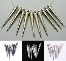20/50/100pcs Silver/Golden Acrylic Spike For Charm Basketball Wives Earrings