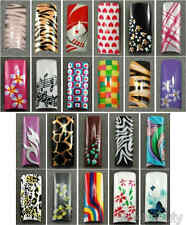 Selections of Air Brushed Designer French Nail Tips in 10 sizes Set A
