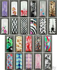 Selections of Air Brushed Designer French Nail Tips in 10 sizes Set B