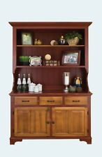 Amish Farmhouse Kitchen Hutch Dining Room Country Step Back Solid Wood New