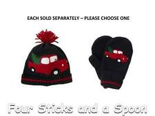 NWT Gymboree Snow Chillin' Red Truck Sweater Hat/Mittens 0-12 M, 12-24 M, 4T-5T