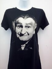 THE MUNSTERS T-SHIRT WOMENS THE GRANPA RARE GOTHIC ROCK T-SHIRT SIZE SM MED LG X