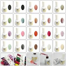 15ml Nail Art Glitter Color Soak-off UV Gel Polish Nail Enamel Top Coat Base New