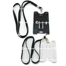 1 pcs Business ID Card Badge Holder 2 in 1 + Clasp Neck Strap Lanyard CSA029