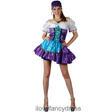 SEXY GYPSY FORTUNE TELLER LADIES FANCY DRESS PIRATE COSTUME XS S M UK 6 - 14