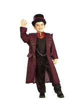 Child Licensed Willy Wonka Chocolate Factory Fancy Dress Costume + Hat Boys Kids