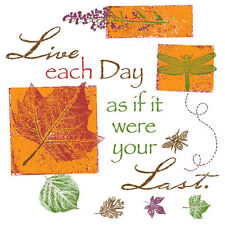Live Each Day As If It Were Your Last    Tshirt   Sizes/Colors