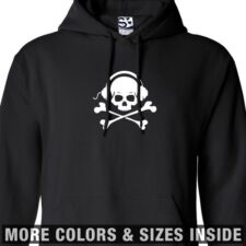 Skull & Phones HOODIE Bones Headphones Hooded Sweatshirt - All Sizes & Colors
