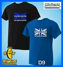 WIGAN union jack pride   football sportng fc funny  T SHIRT small to 5XL D9