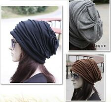 New Popular Korean Both Men and Women Folded knitted cap wool hat winter caps