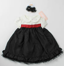 NWT girls size 3 6 12 18 months Gymboree HOLIDAY TRADITIONS dress & hair clips!!