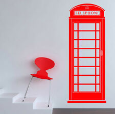 Telephone box Wall Sticker vinyl art large graphic decal call deco payphone