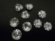 50 x Plastic Crystal Faux 13mm Rhinestone 2 Hole Sew Buttons - Buy 3 Get 1 FREE