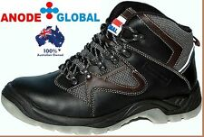 Work Boots Safety Shoes Steel Cap Heavy Duty Lace Up Mens Brand New Anode Global