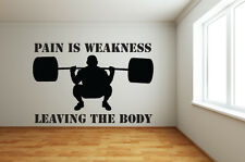 Gym Themed Wall Art - Pain is Weakness - Weightlifting - Various Sizes/Colours