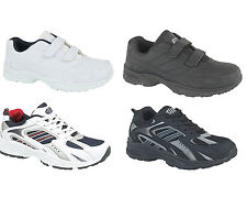 Mens Sport Trainers in White, Black, Lace Up, Velcro Size 6 7 8 9 10 11 12