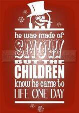 FROSTY THE SNOWMAN CHRISTMAS Vinyl Wall Saying Lettering Quote Decor Decal Craft