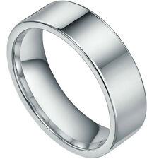 New 8mm Mens Silver Smoothy Tungsten Band Ring Pipe Fashion Comfort Fit