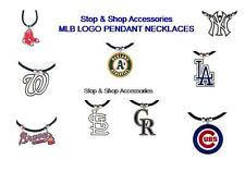 MLB LOGO Pendant Rubber Cord Necklace- PICK YOUR TEAM!!