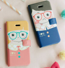 Apple iPhone 7 iPhone7 Flip Phone Case Couple Folder Cover Boy Girl Special Gift