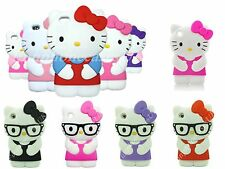 Hello Kitty iPod Touch 4th Gen Case Silicone 3D Cover Pink Purple Reds UK 4 g