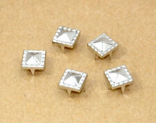 8.5mm Pyramid Dot Studs silver Punk Rock DIY Rivet Spike #GZ005A-8.5S