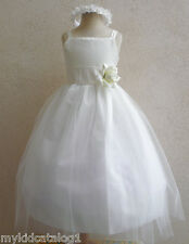 IVORY BRIDESMAID PAGEANT BIRTHDAY WEDDING RECITAL GOWN PARTY FLOWER GIRL DRESS
