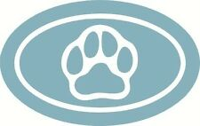 "Oval Paw Puppy Print - Vinyl Wall Decal [Animal 10] 4""x8"""