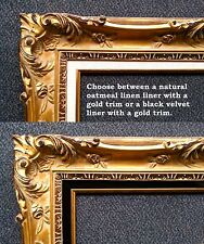 "20x24 Distress Ornate Antique Hand Carved Gold kinkade Picture Frame 4.5""  wood"