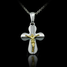 Sterling Silver Crucifix Cross Necklace Pendant