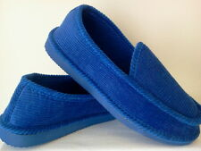 ROYAL BLUE CORDUROY HOUSE SHOES LOOX SLIPPERS NEW SIZE 8 9 10 11 12 13