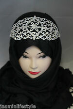 Ladies Beautiful Daimante Head Peice Brooch Hijab  Band Bridal Party Jewellery