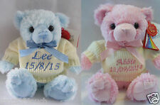 New baby gift, Personalised teddy bears,Shower present,Babies first bear