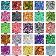 1000 Cup Sequins - 6mm, 8mm, & 10mm - Silver Film & Color Slice - Choose Colors