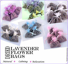 Dried Lavender Flower Bags from 99p (Choice of Bag Colours)
