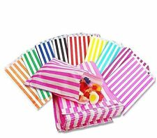 """Candy Stripe Sweet Gift Wedding Paper Bags 5"""" x 7"""" ***Choose your own Colour***"""