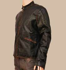 REPLICA TRON LEGACY SAM FLYNN COW HIDE DISTRESSED LEATHER JACKET