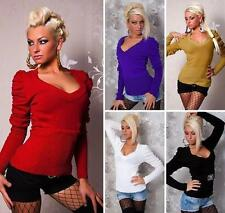 Sexy Sweater with Puffed Sleeves One Size S/M UK size 8/10  -   11 colours
