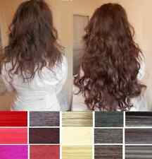 FULL HEAD SET OF CURLY/WAVY CLIP IN HAIR EXTENSIONS ALL COLOURS & SIZES
