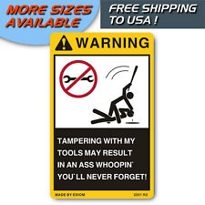 NEW DANGER LABEL WARNING STICKERS FOR YOUR TOOLS OR TOOL BOX