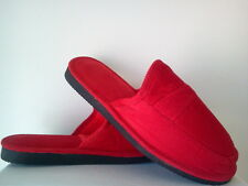 RED CORDUROY HOUSE SHOES OPEN BACK SLIPPERS NEW SIZE 8 9 10 11 12 13 PIRU BLOOD