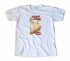 Vintage Parrot Jungle Island Florida Travel Decal T-Shirt - Miami, Tropical