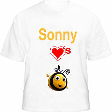 Children's The Hive Personalised Kids T Shirt, age 1 to 11 years.