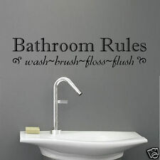 Bathroom Rules Vinyl Wall Quote Decal