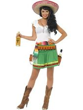 LADIES TEQUILA SHOOTER GIRL WESTERN FANCY DRESS COSTUME SEXY MEXICAN BELT OUTFIT